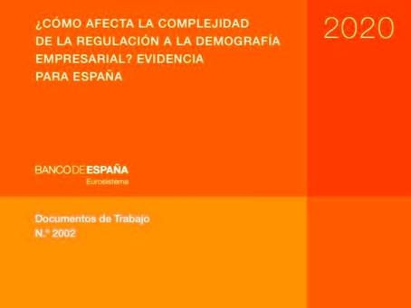¿CÓMO AFECTA LA COMPLEJIDAD DE LA REGULACIÓN A LA DEMOGRAFÍA EMPRESARIAL? EVIDENCIA PARA ESPAÑA