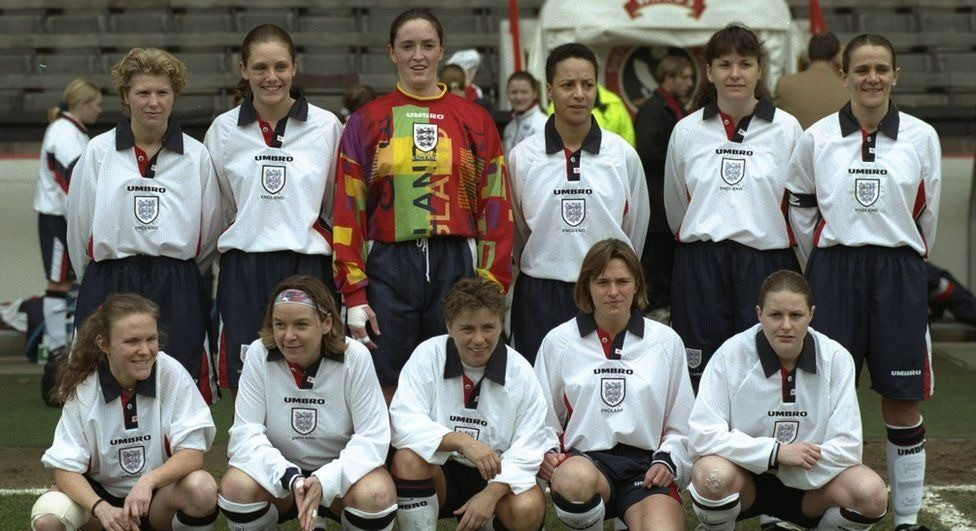 England women's team in 1997