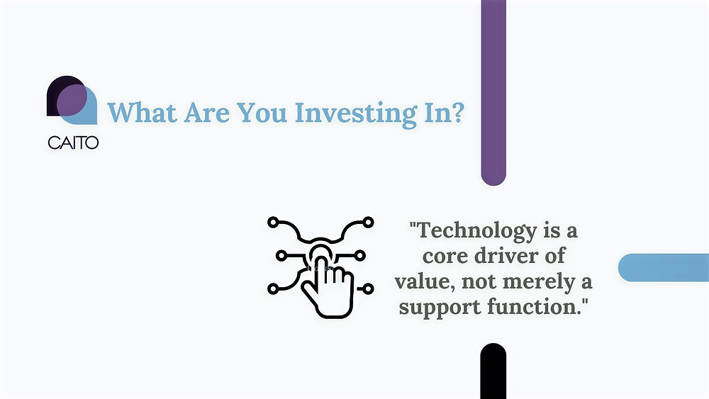 Technology like CAITO not merely a support function. It is a sound investment which drives core value.