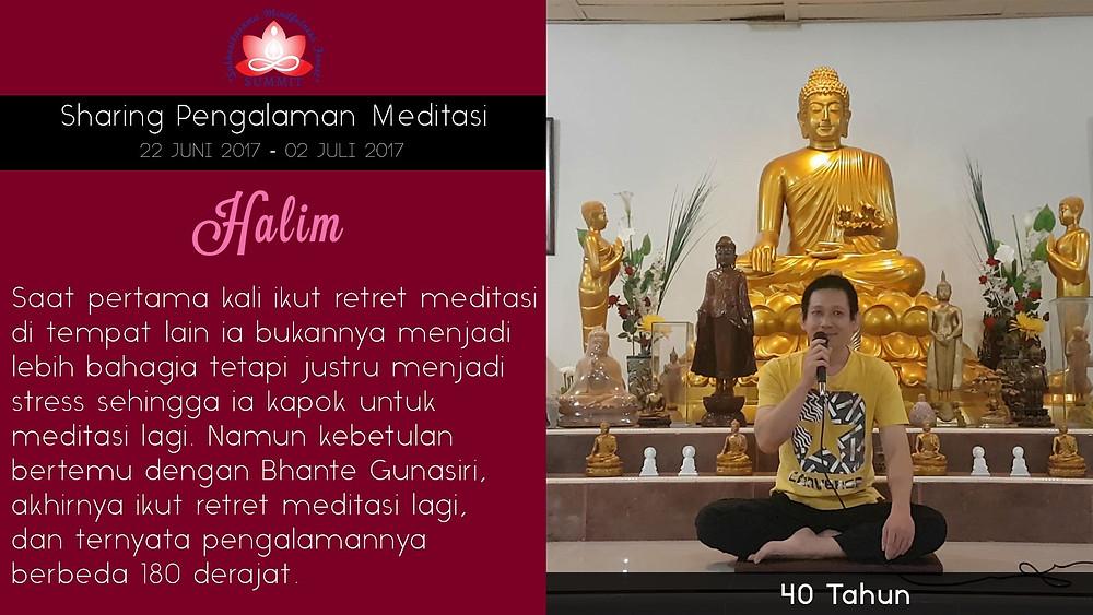 Meditasi yang menyenangkan - Sharing oleh HALIM