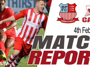 Match Report - Bowers & Pitsea