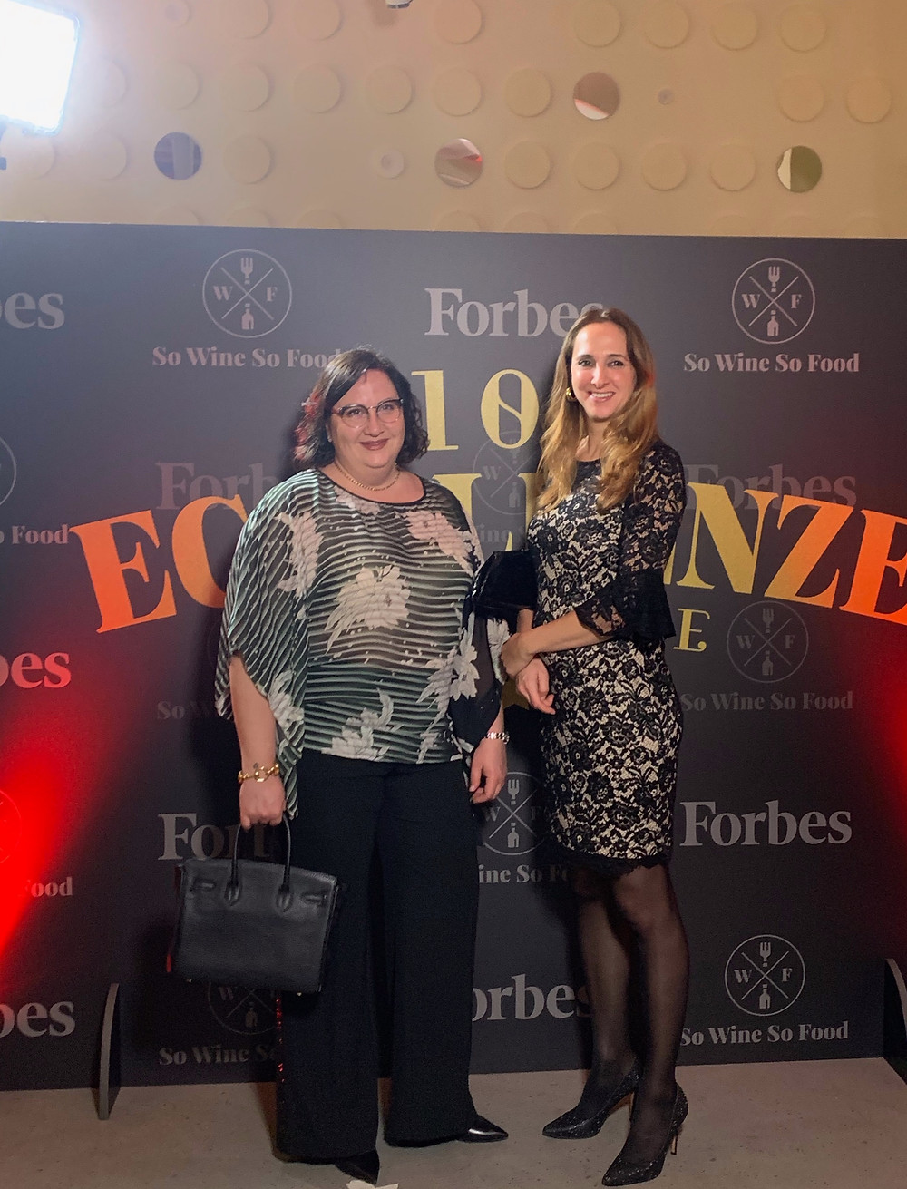 Elena Corte and Paola Corte at Forbes Party