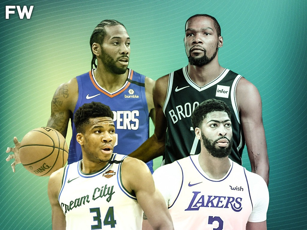 Kawhi Leonard Los Angeles Clippers Kevin Durant Brooklyn Nets Giannis Antetokounmpo Milwaukee Bucks Anthony Davis Los Angeles Lakers NBA Around the Game