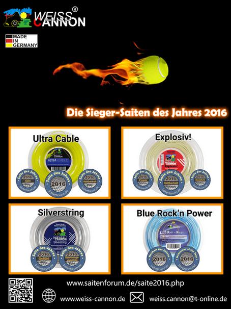 Die Sieger-Saiten des Jahres 2016