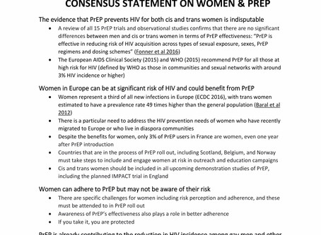 EATG signs on the Women and PrEP consensus statement