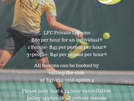 2019 Tennis Lessons
