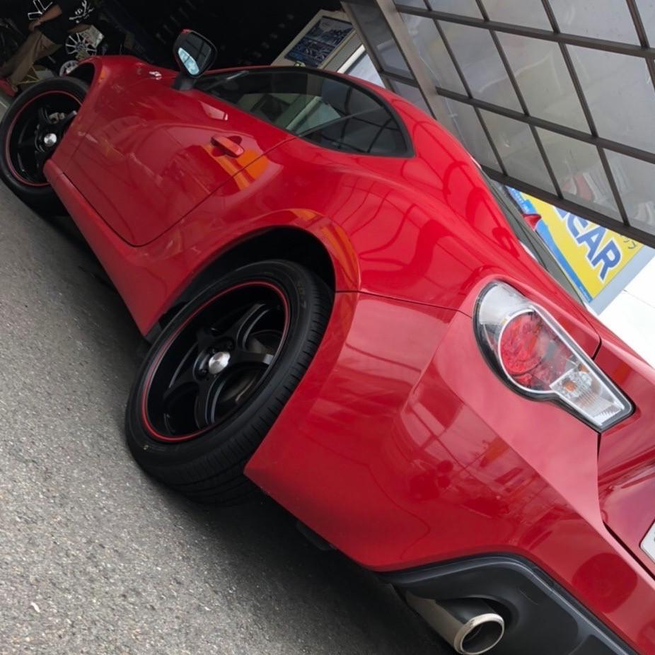 トヨタ 86 5次元 FN01R-Cα 17インチ 7J トーヨータイヤ SD7 スバル BRZ スポーツカー