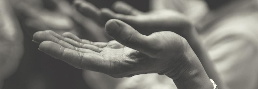 Hands of an older woman.