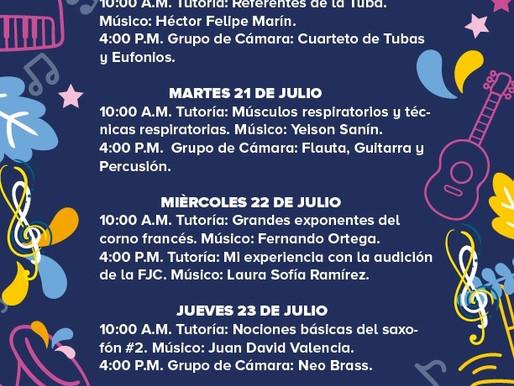 PROGRAMACIÓN BANDA MUNICIPAL DE MANIZALES 20 AL 24 DE JULIO