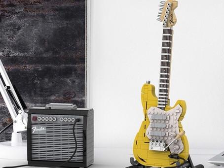 """LEGO tendrá un set inspirado en una guitarra """"Fender Stratocaster""""🎸🔥"""