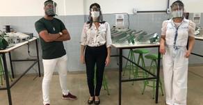 IFBA Campus Irecê doa mais 190 protetores faciais e chega a 423 no total.