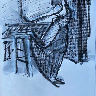 Marie Robert, attending figure drawing session online, all over the world.