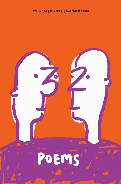 two roughly drawn humans look at each other; the three and two of the title form their respective noses