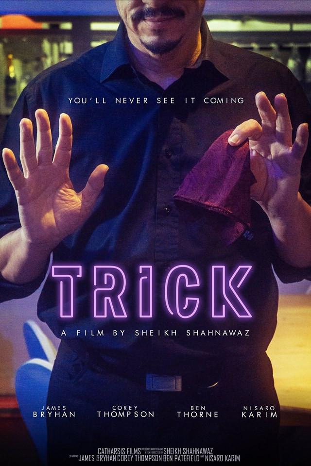Trick short film poster