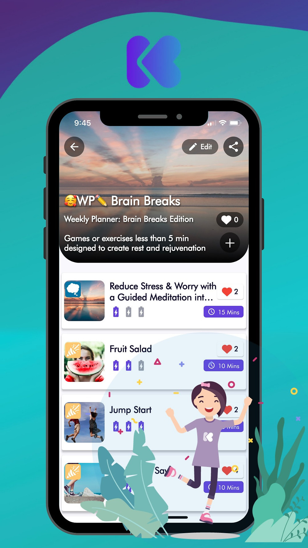 Check out Weekly Planner Playlists in the Kikori App