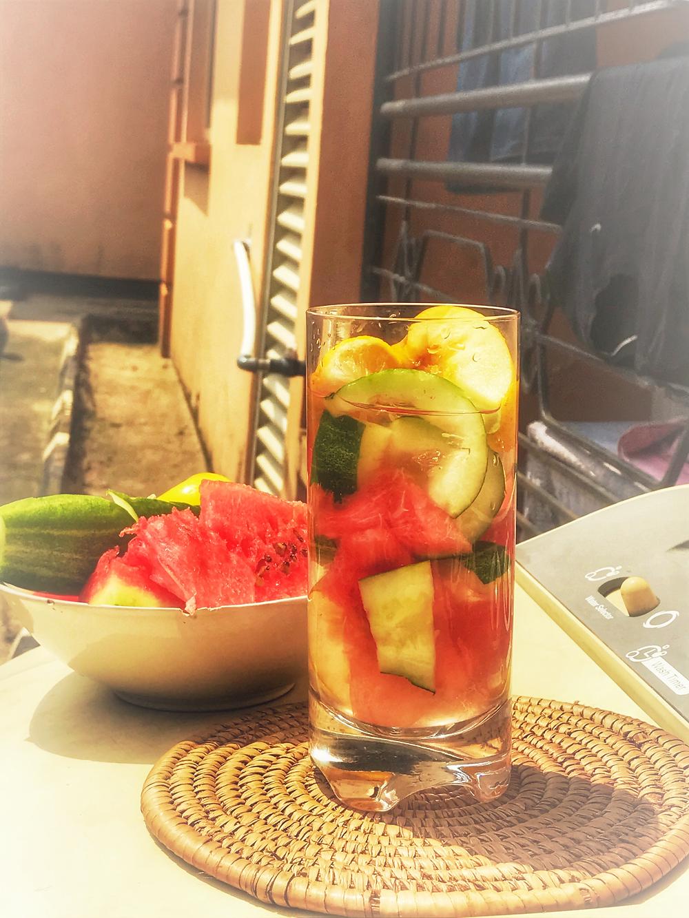 fruits comprise of apple,lemon,cucumber, waterlemon,pineapple.