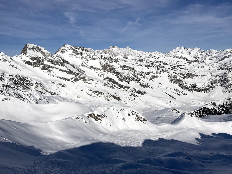 Ausblick Bergketten, Kleine Kreuzspitze Ratschingstal