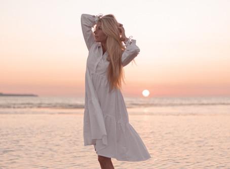 Beach sunset portrait photo session