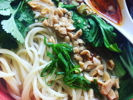 Vegan Chongqing noodles