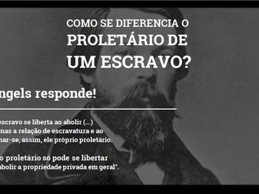 """""""Como se diferencia o proletário do escravo?"""", Engels responde"""