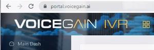 Voicegain IVR web portal