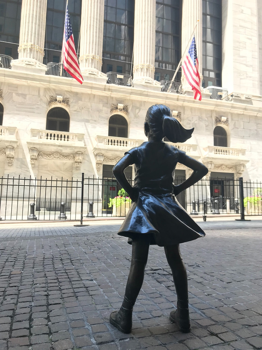 Fearless Girl Staring Down the New York Stock Exchange, NYSE