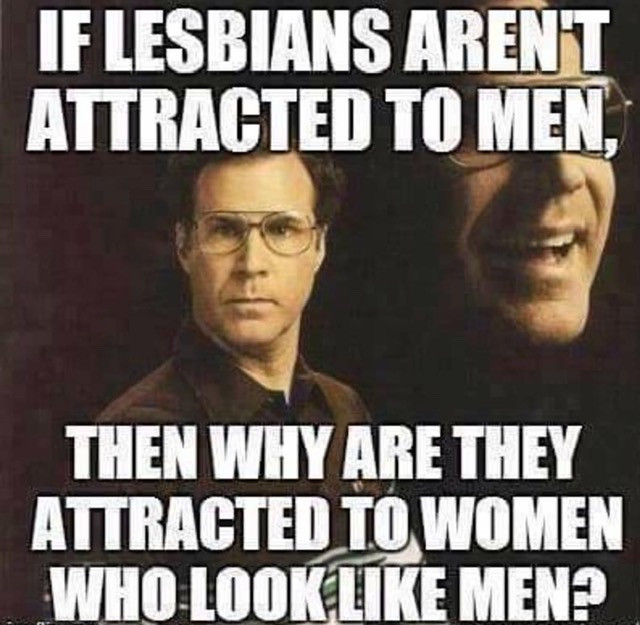 Lesbian Memes - If Lesbians aren't Attracted to Men, then Why are They Attracted to Women Who Look Like Men?