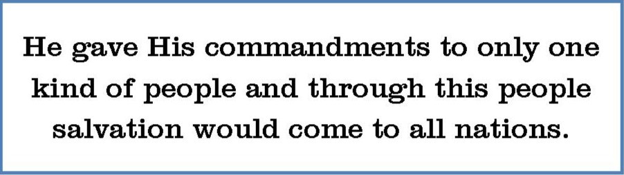 """""""He gave His commandments to only one kind of people..."""" a quote by Taneallea Feddis, Paradise Ministries.."""