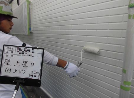 川越市S様邸外壁塗装工事施工中②