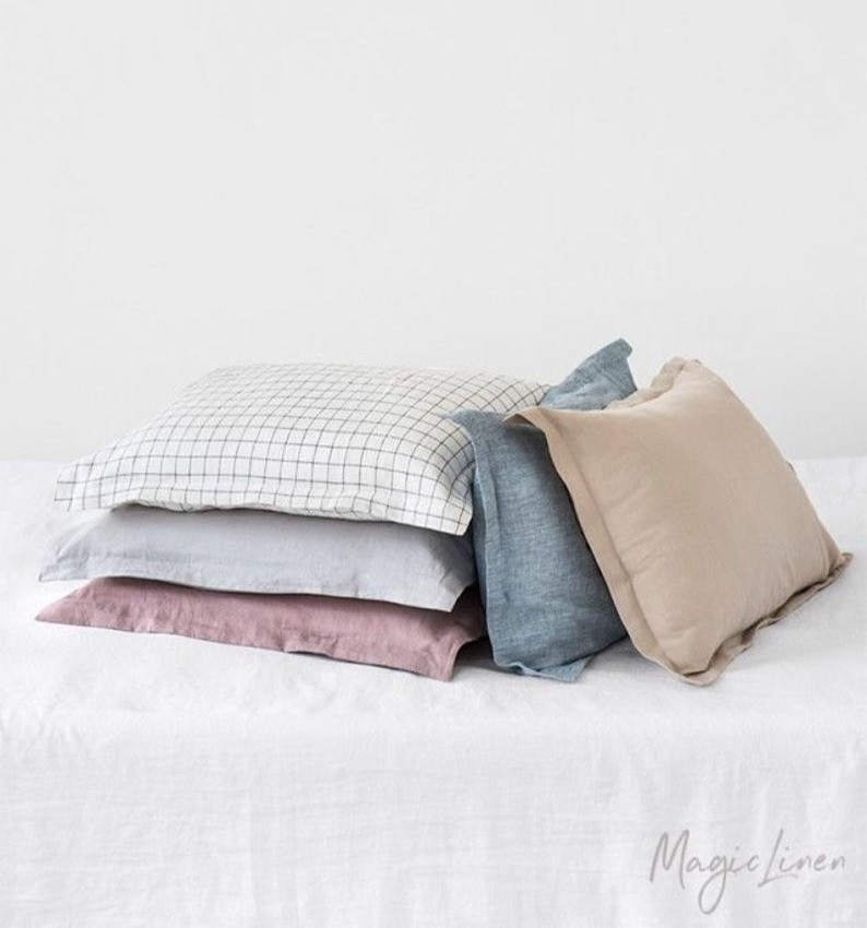 Handmade Sham linen pillow case