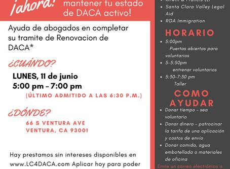 CARAVANA DACA: JUNIO EN VENTURA!               DACA CARAVAN: JUNE ON VENTURA'S WESTSIDE