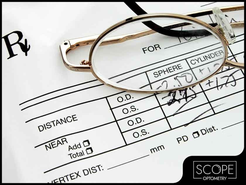 Eyeglasses prescription