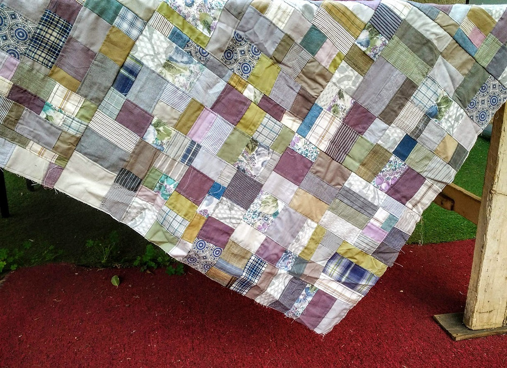 Crumb quilted patchwork top