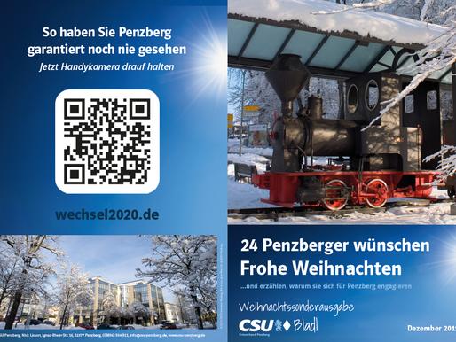 24 Penzberger wünschen Frohe Weihnachten und erzählen, warum sie sich für Penzberg engagieren