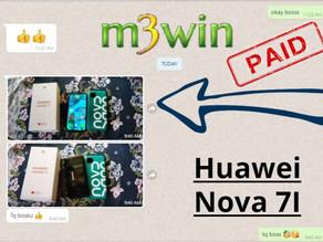 M3win Lucky Draw - Huawei Nova 7i