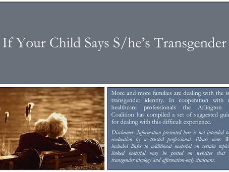 Support For Parents With Kids Who Identify as Transgender