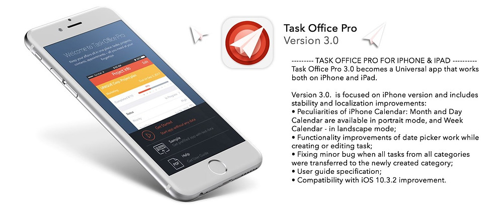 Task Office Universal app that works both on iPhone and iPad. Month and Day Calendar are available in portrait mode, and Week - in landscape mode