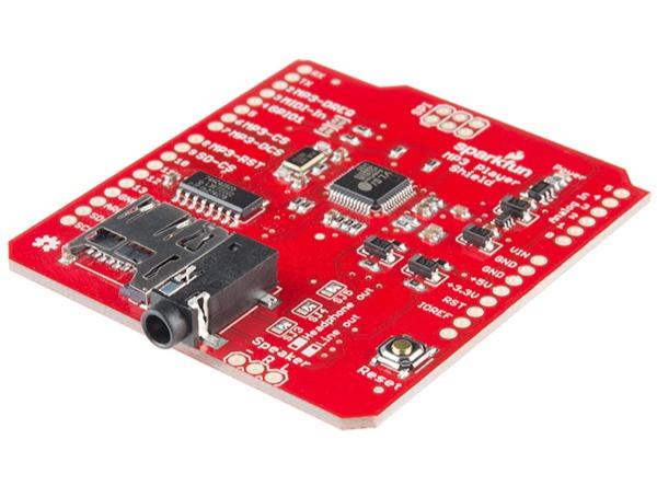 Воспроизведите музыку и другие интересные звуковые эффекты  с помощью Arduino MP3 Player Shield.