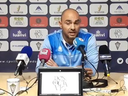 Declaraciones de Jesús Castellanos tras el CP Villarrobledo 0 Real Murcia 0