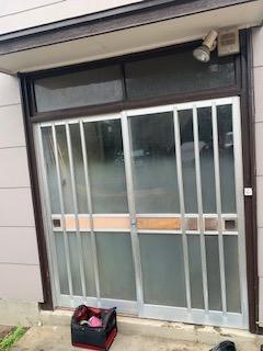 川口市にて玄関引き戸リフォーム工事