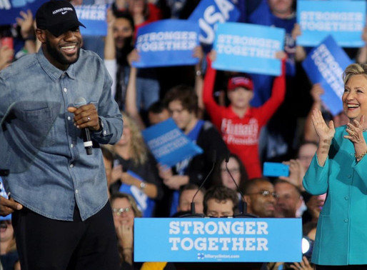 LeBron James, THE KING from NBA, emerges as potent political force ahead of November U.S. election
