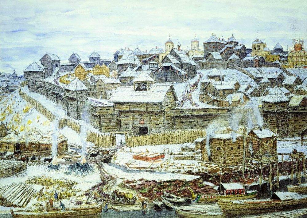 Московский Кремль при Иване Калите (1921 год)