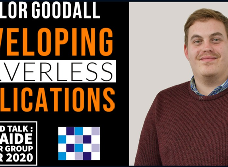 INTERVIEW WITH TAYLOR GOODALL : FEATURED PRESENTER at ADNUG, 11 MARCH 2020