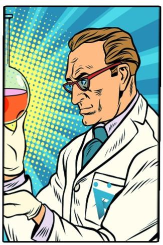 Expozive lab scientist