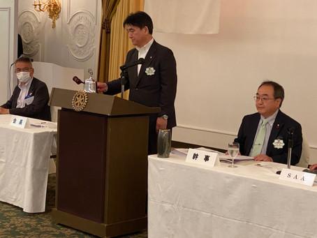 恩田・天道年度の第1回例会(通算第1824回)を開催致しました。