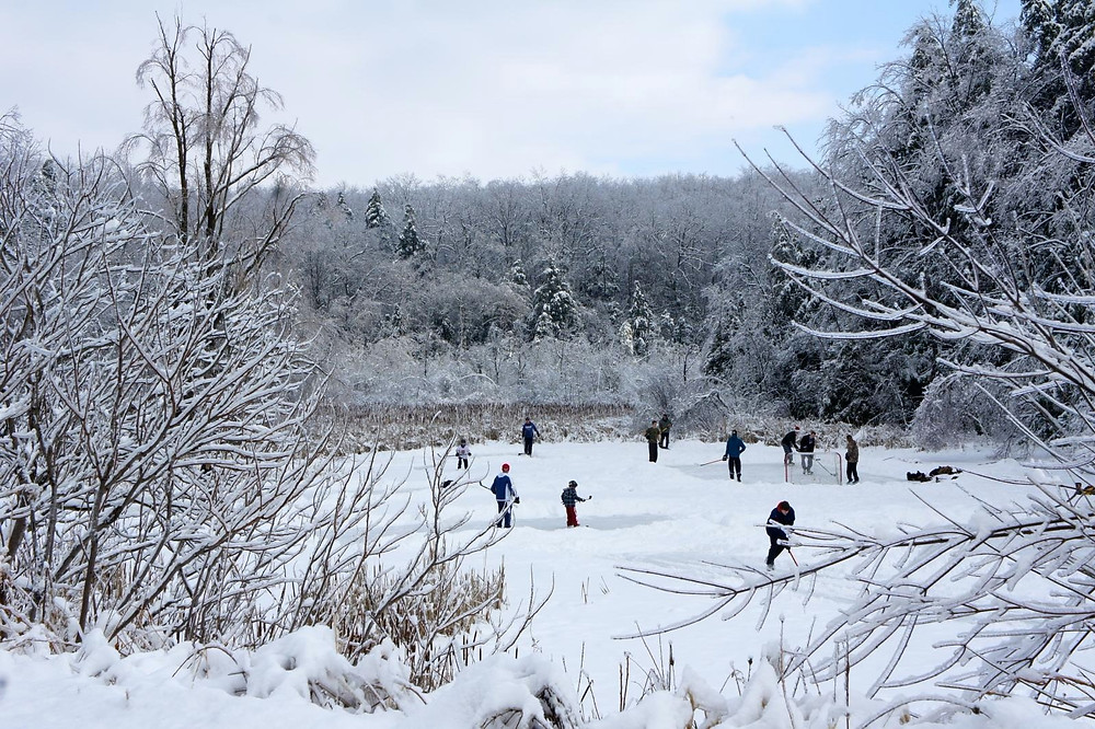 Hockey Canada Played on Pond for Adventure Travel Tour Destinations