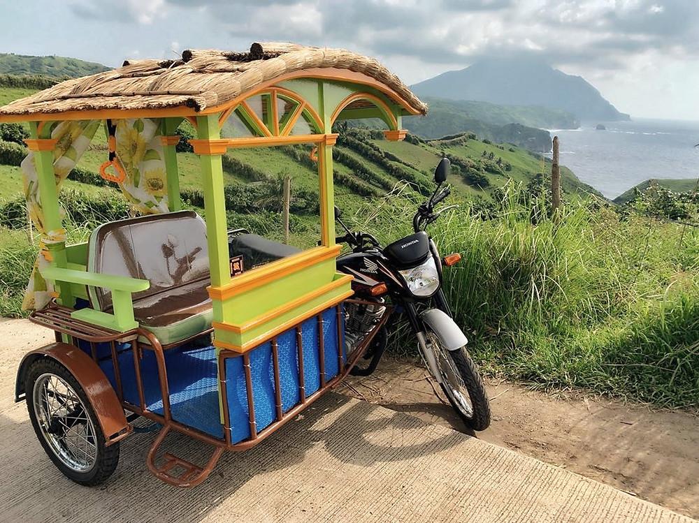 Ivatan Cogon Trikes used for touring Batanes