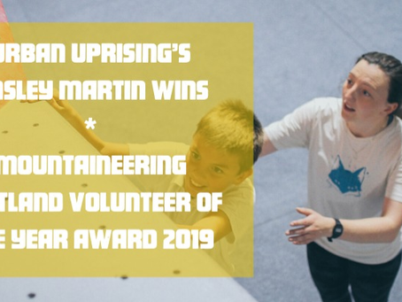Urban Uprising's Ainsley Martin Wins Mountaineering Scotland Volunteer of the Year Award 2019