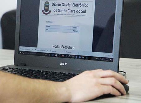 Município institui Diário Eletrônico para divulgar atos públicos