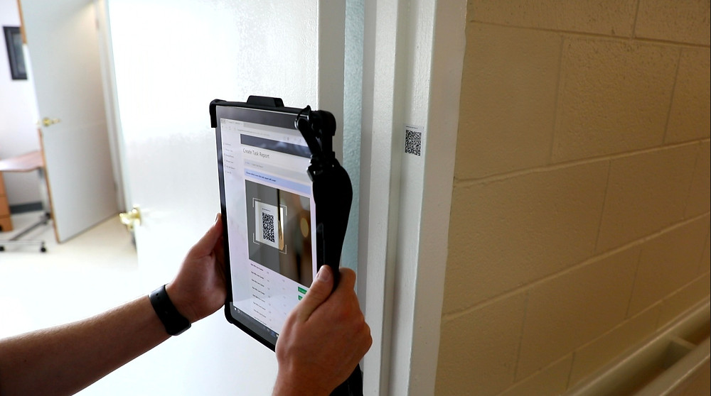 Scanning a Barcode on a Resident's Room
